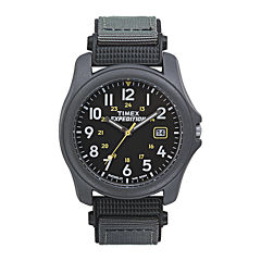 Timex® Expedition® Camper Mens Gray Nylon Strap Watch T425719J