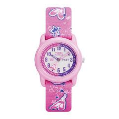 Timex® Easy Reader Kids Pink Fabric Strap Watch T7B1519J