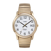 Timex® Easy Reader Mens Gold-Tone Stainless Steel Expansion Strap Watch T2H3019J