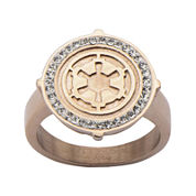 Star Wars® Rose Gold Ion-Plated Stainless Steel Galactic Empire Ring