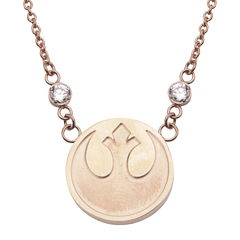 Star Wars® Stainless Steel Rebel Alliance Symbol Pendant Necklace