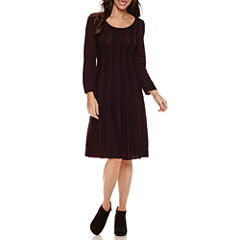 Ronni Nicole 3/4 Sleeve Sweater Dress