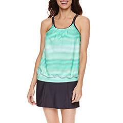 Free Country ®  Blouson  Tankini w/Adj Straps or Shirred Waistband Skirt