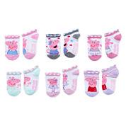 6-pc. Peppa Pig No Show Socks-Toddler