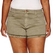 Arizona Cotton Chino Shorts-Juniors Plus