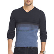 Van Heusen® Striped Fashion V-Neck Sweater
