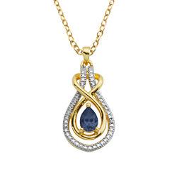Sparkle Allure Genuine Sapphire Pendant Necklace