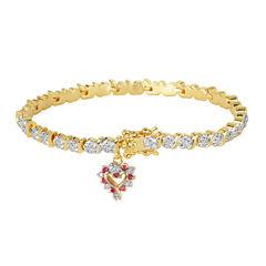 Sparkle Allure Simulated Ruby Tennis Bracelet