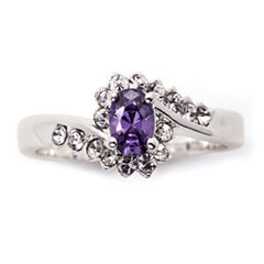 Sparkle Allure Purple Crystal Cocktail Ring