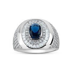 Mens Blue Sapphire Band