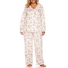 Adonna Fleece Pant Pajama Set-Plus