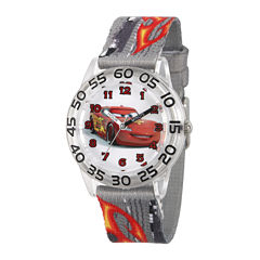 Disney® Cars Boys Gray Strap Watch