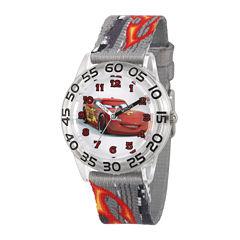 Disney® Cars Boys Gray Strap Watch