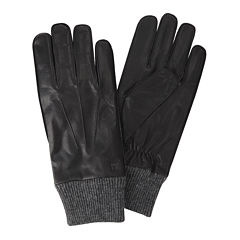 Haggar® Leather and Knit Gloves