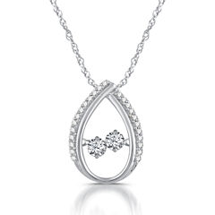 1/3 CT. T.W. White Diamond Round 10K Gold Pendant