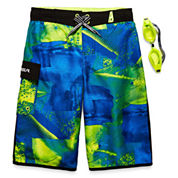 Zeroxposur Boys Geometric Trunks-Big Kid