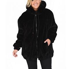 Excelled® Reversible Faux-Leather/Faux-Fur Jacket - Plus