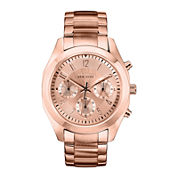 Caravelle New York® Womens Rose-Tone Dial Rose-Tone Chronograph Watch 44L115