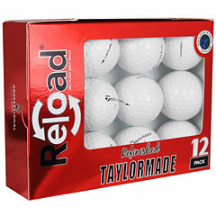 12 Pack Taylormade Lethal Refinished Golf Balls.