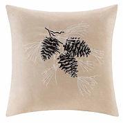Madison Park Pine Cone Square Throw Pillow