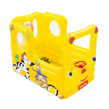 Bestway Fisher price 54 Inches X 38 Inches X 38 Inches Lil Learner School Bus With 20 Balls