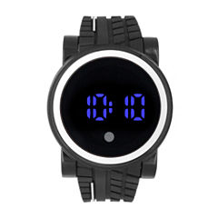 Mens Black Strap Watch-33556