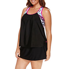 Pow Wow Action Layered Tankini or Knit Action Skirtini-Plus