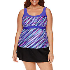 ZeroXposur Deluge Peasant Tankini or Knit Action Skirtini
