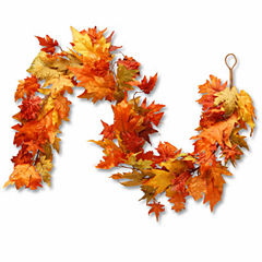 National Tree Co. 72 Inch Maples And Pumpkin Garland