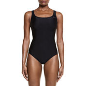 Nike Solid One Piece Swimsuit