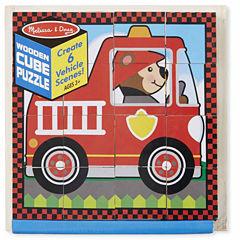Melissa & Doug® Vehicles Cube Puzzle