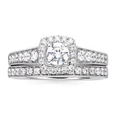 I Said Yes™ 1 CT. T.W. Diamond & Lab-Created Blue Sapphire Bridal Ring Set