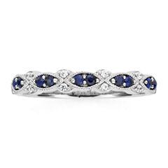 I Said Yes™  Genuine & Lab-Created Blue Sapphire Vintage-Style Band