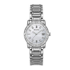 Bulova® Womens 1/8 CT. T.W. Diamond Watch 96R105