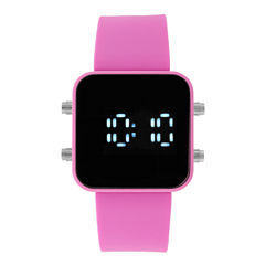 Womens Pink Strap Watch-17676