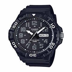 Casio Table Mens Black Strap Watch-Mrw210h-1apb