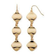 Liz Claiborne® Gold-Tone Linear Earrings