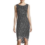 Blue Sage Jump Sleeveless Lace Sheath Dress