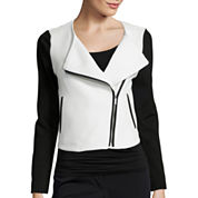 Liz Claiborne® Quilted Knit Jacket - Tall
