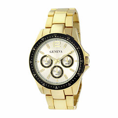 Geneva Mens Gold-Tone Sport Watch