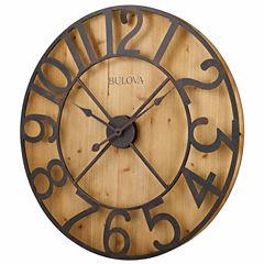 Bulova Silhouette Champagne Wall Clock-C4814