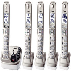 Panasonic KX-TGD225N Expandable Digital Cordless Answering System with 5 Handsets - Champagne Gold