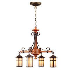 Dale Tiffany™ Round Lantern 4-Light Hanging Fixture