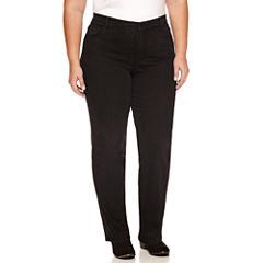 Gloria Vanderbilt Straight Leg Jeans-Plus
