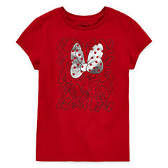 Disney Girls Minnie Mouse Bow Graphic T-Shirt - Big Kid