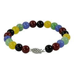 Multicolor Jade Bead Bracelet