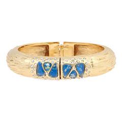 10021   Kara Ross Crystal & Blue Resin Bangle Bracelet