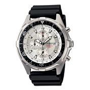 Casio® Mens Black Resin Strap Chronograph Watch AMW330-7AV