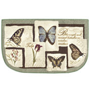 Butterfly Collage Wedge Rug