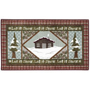 Snow Cabin Holiday Rug